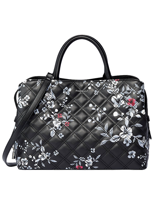 Buy Fiorelli Bethnal Triple Compartment Grab Bag, Floral Quilt Online at johnlewis.com