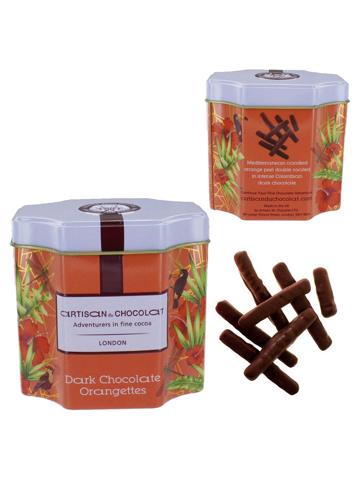 BuyArtisan du Chocolat Dark Chocolate Orangettes, 115g Online at johnlewis.com