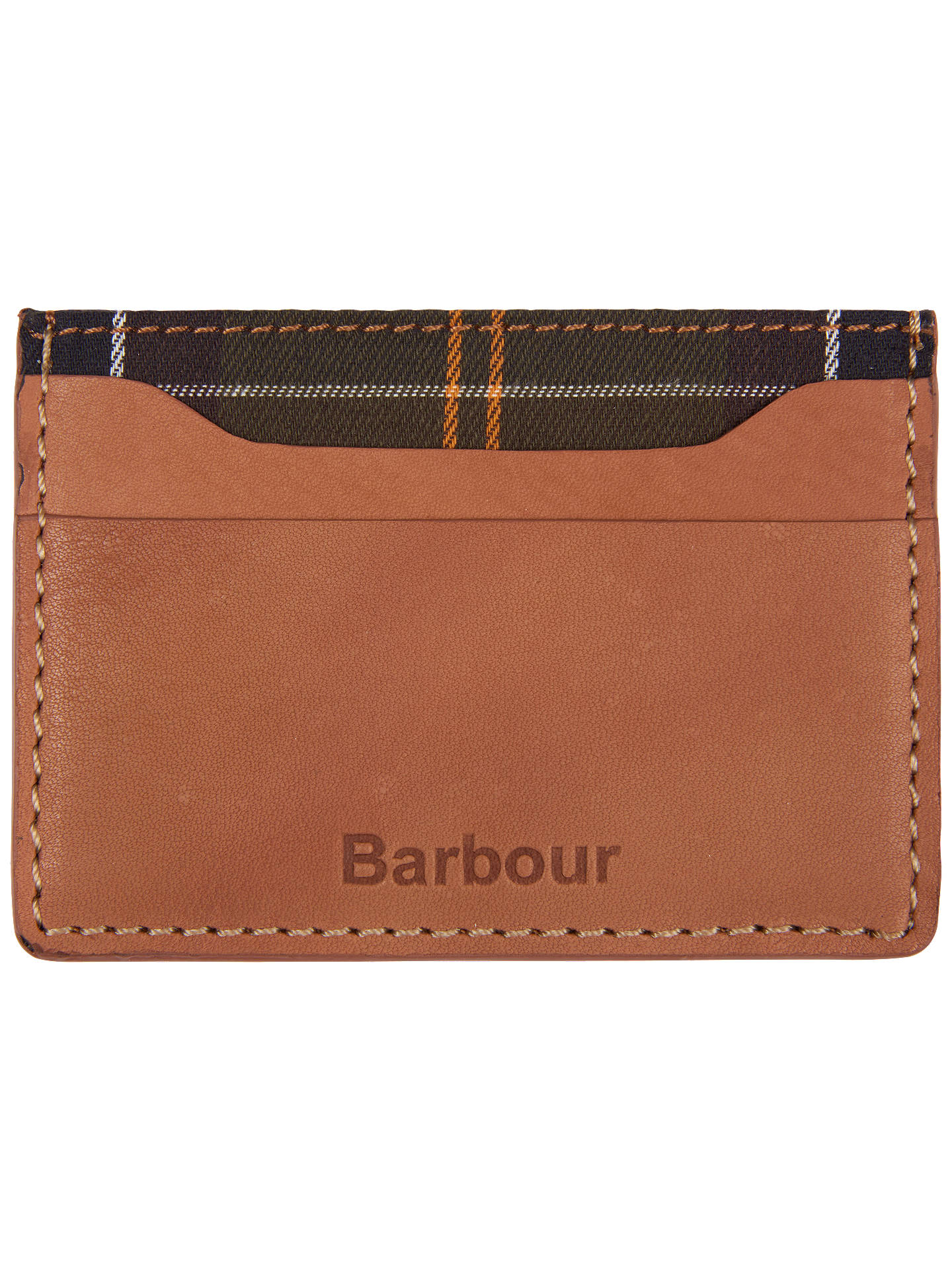 Barbour Leather Artisan Card Holder, Tan, Tan
