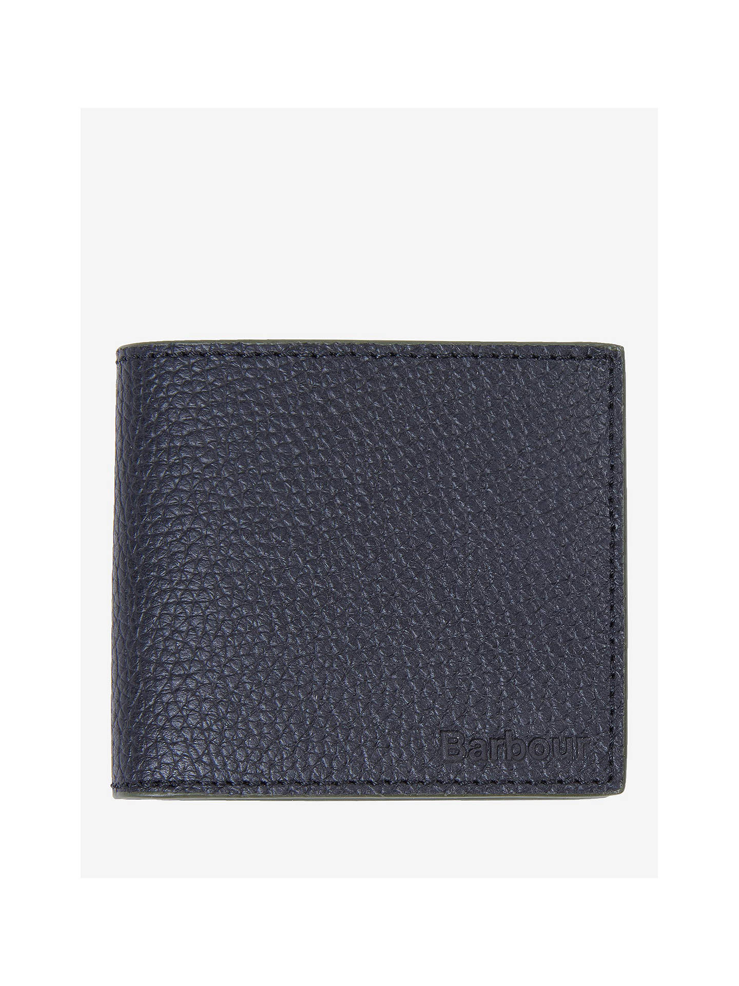 527bc272 Buy Barbour Grain Leather Coin Wallet, Black Online at johnlewis.com ...