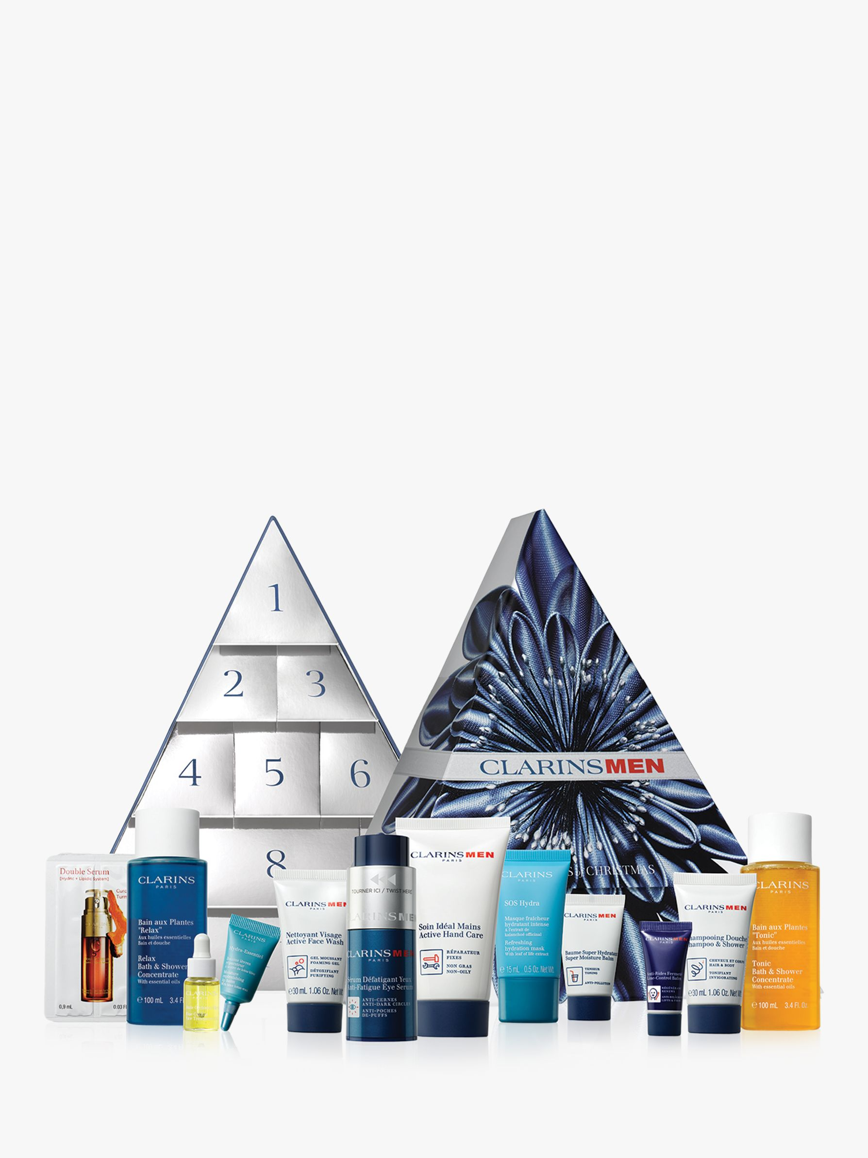 Clarins 12 Days Of Christmas Calendar Male Skincare Gift Set At John Lewis Partners