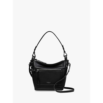 Radley Eltham Palace Leather Medium Zip-Top Shoulder Bag, Black