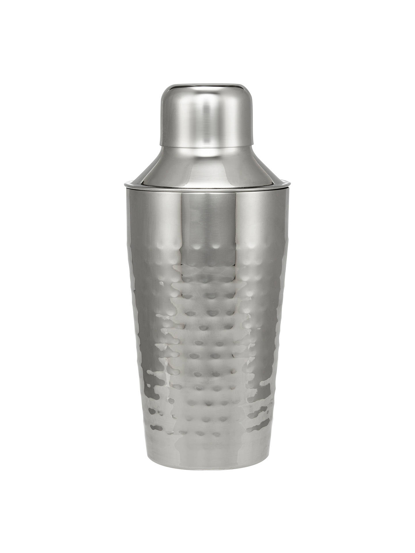 Buy John Lewis & Partners Hammered Stainless Steel Cocktail Shaker, 300ml Online at johnlewis.com