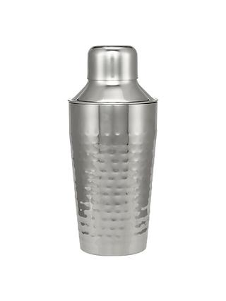 John Lewis & Partners Hammered Stainless Steel Cocktail Shaker, 300ml