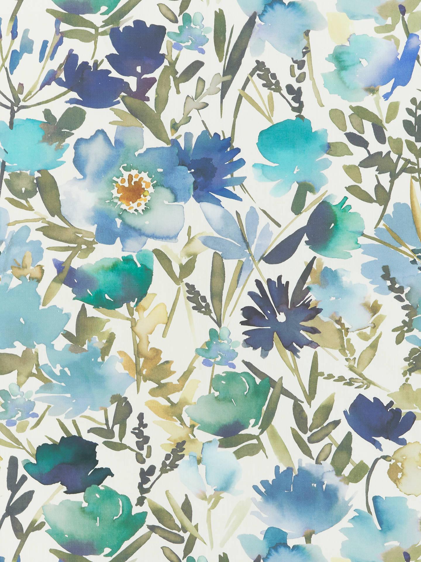 John Lewis Partners Bloom Furnishing Fabric Blue Online At Johnlewis