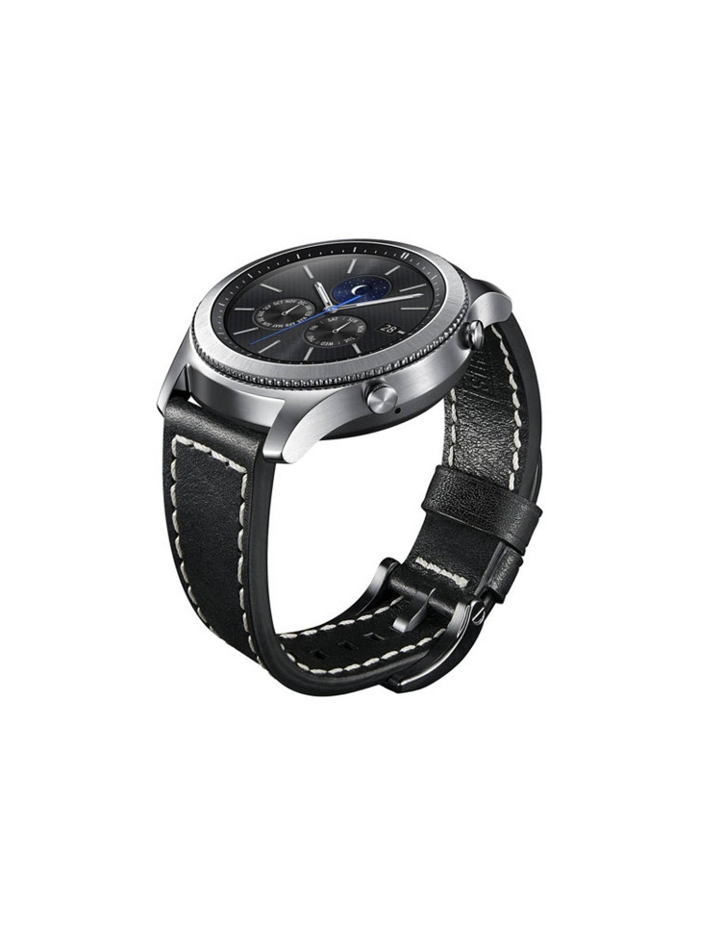 Buy Samsung Gear S3 22m Tuscany Leather Strap, Black Online at johnlewis.com