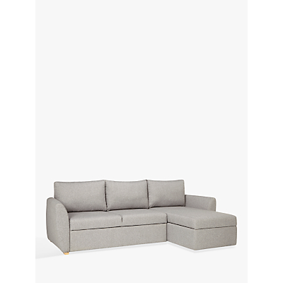 John Lewis & Partners Sansa Splayed Arm Sofa Bed, Saga Grey