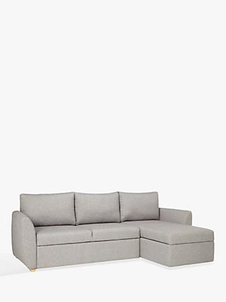 John Lewis Partners Sansa Splayed Arm Sofa Bed Saga Grey