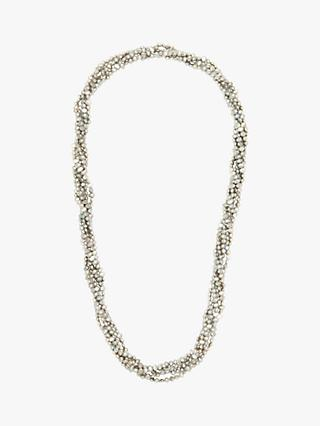 A B Davis Freshwater Baroque Pearl 6 Row Twist Opera Length Necklace