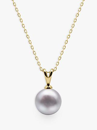 A B Davis 9ct Gold Freshwater Pearl Pendant Necklace