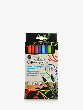 Manuscript Callicreative Duotip Brush Markers, Set of 10