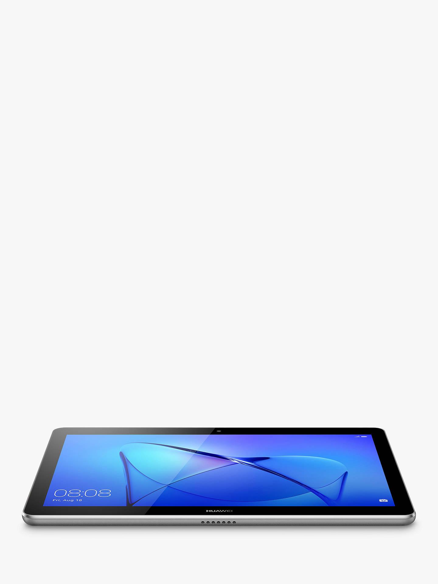 "Huawei MediaPad T3 10 Tablet, Android, Qualcomm MSM8917, 2GB RAM, 16GB  eMMC, 9 6"", Grey"