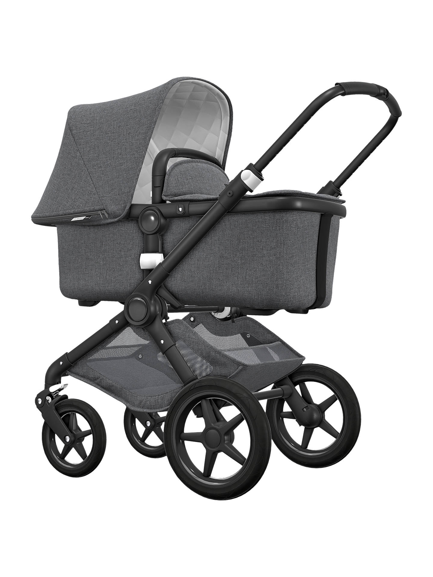 BuyBugaboo Fox Classic Complete Pushchair, Grey Melange Online at johnlewis.com