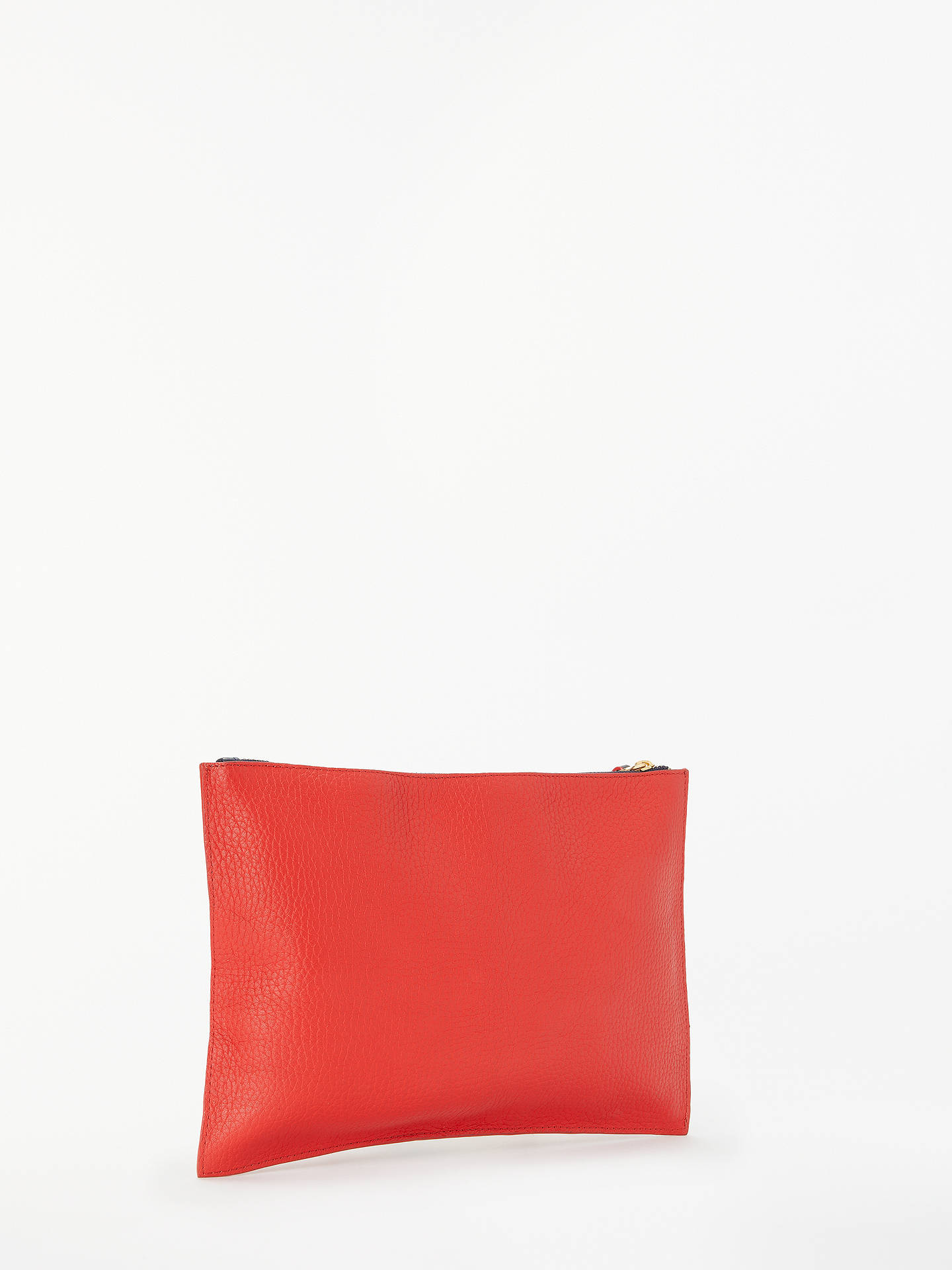 BuyBoden Large Leather Keepsake Pouch, Post Box Red Online at johnlewis.com