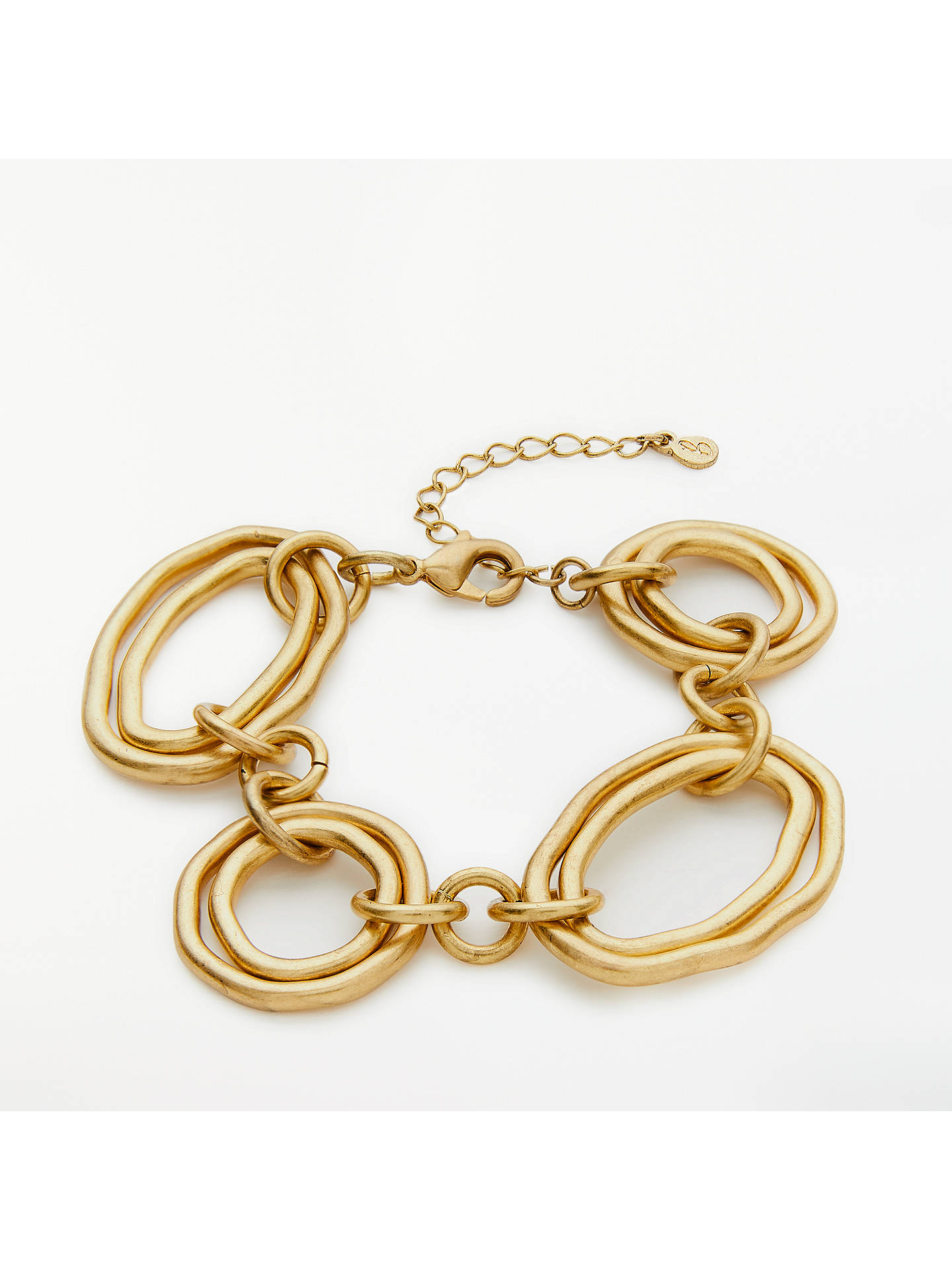 Buy Boden Chunky Geometric Bracelet, Antique Gold Online at johnlewis.com