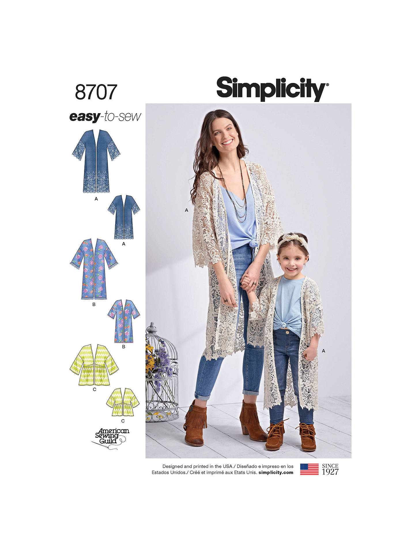 15ecb77a3e BuySimplicity Child s Misses  Kimonos Sewing Pattern