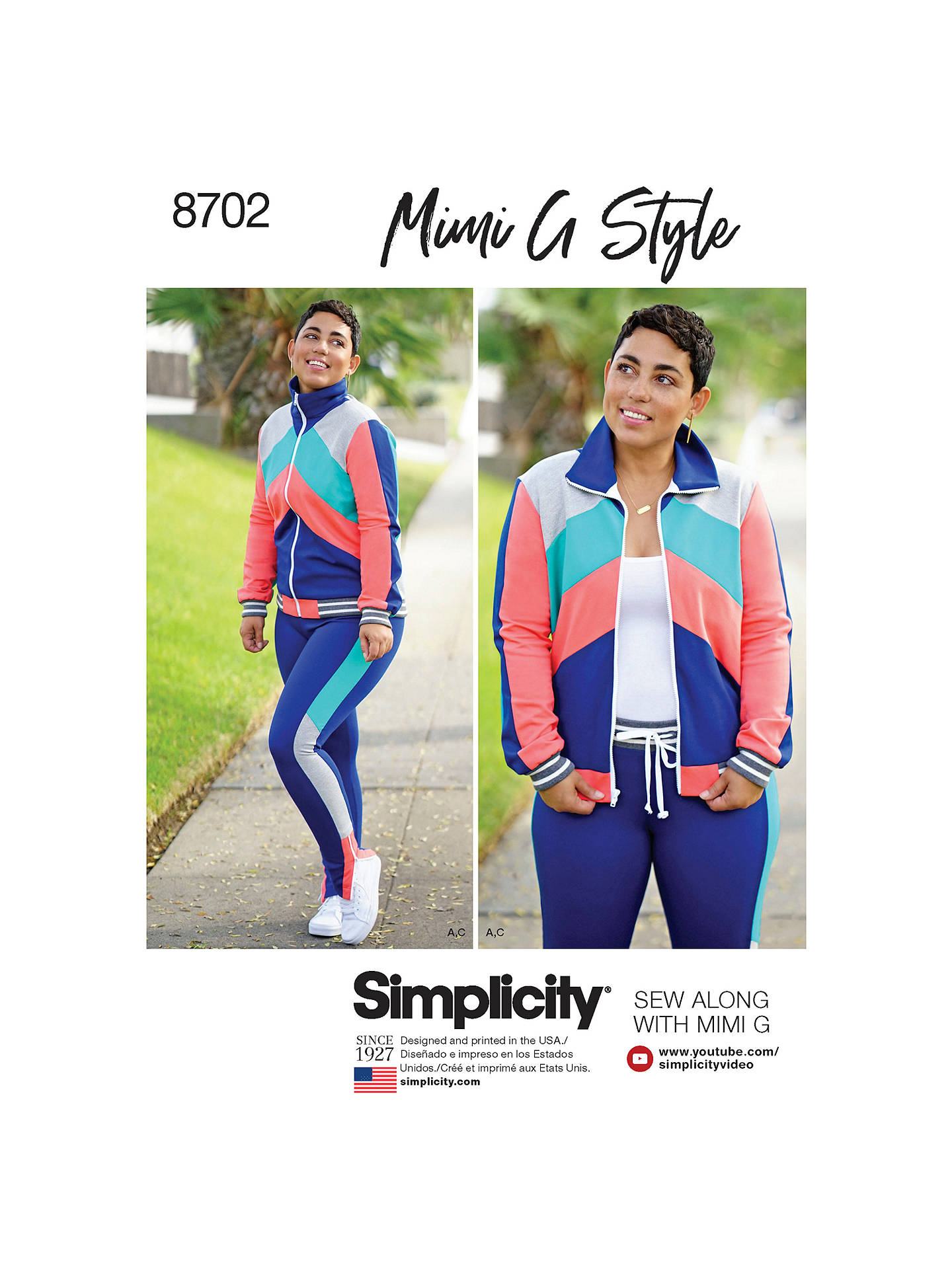 2e42a242a77 Buy Simplicity Mimi G Style Tracksuit Sewing Pattern, 8702, U5 Online at  johnlewis.