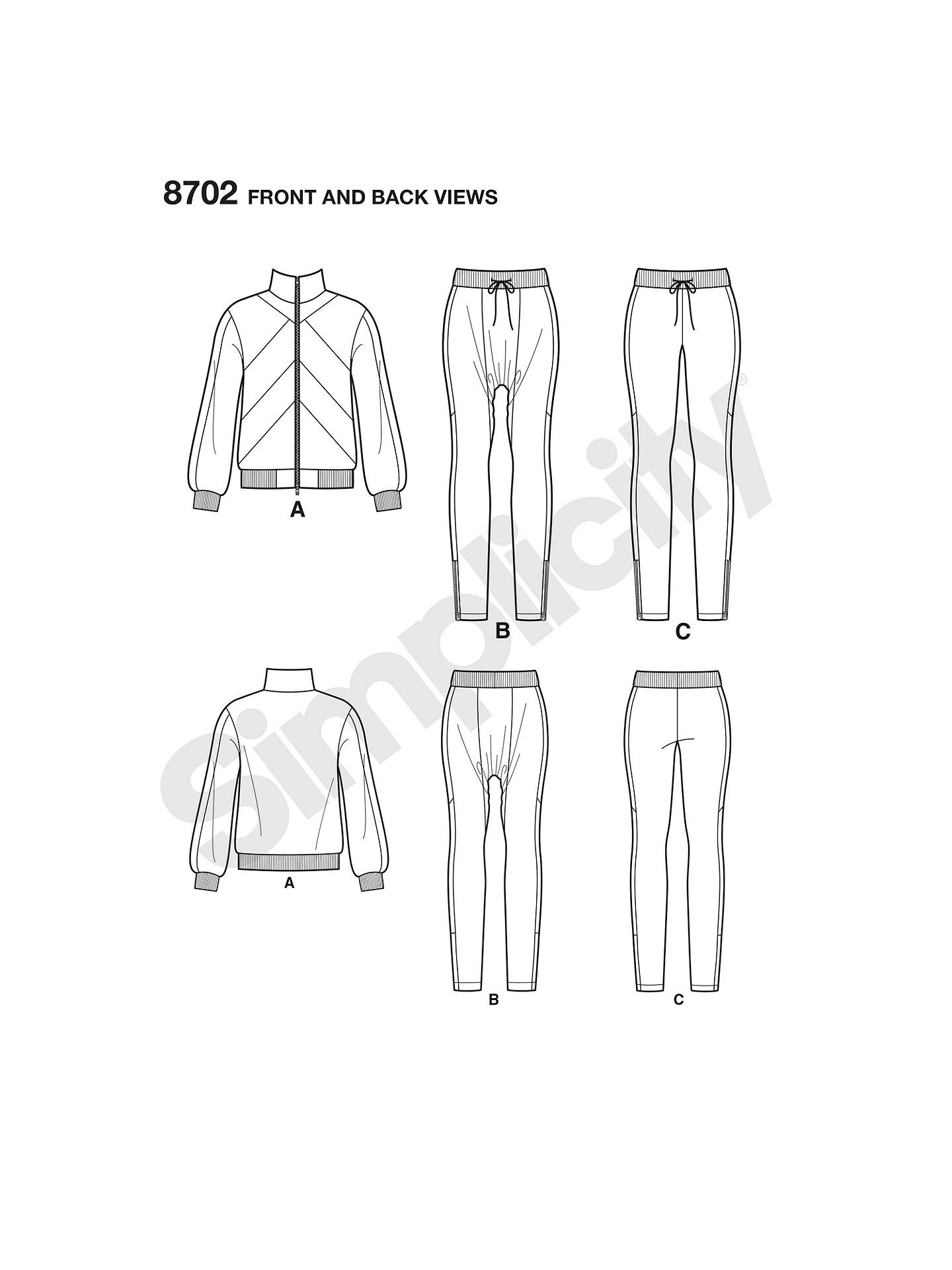 Simplicity Mimi G Style Tracksuit Sewing Pattern, 8702