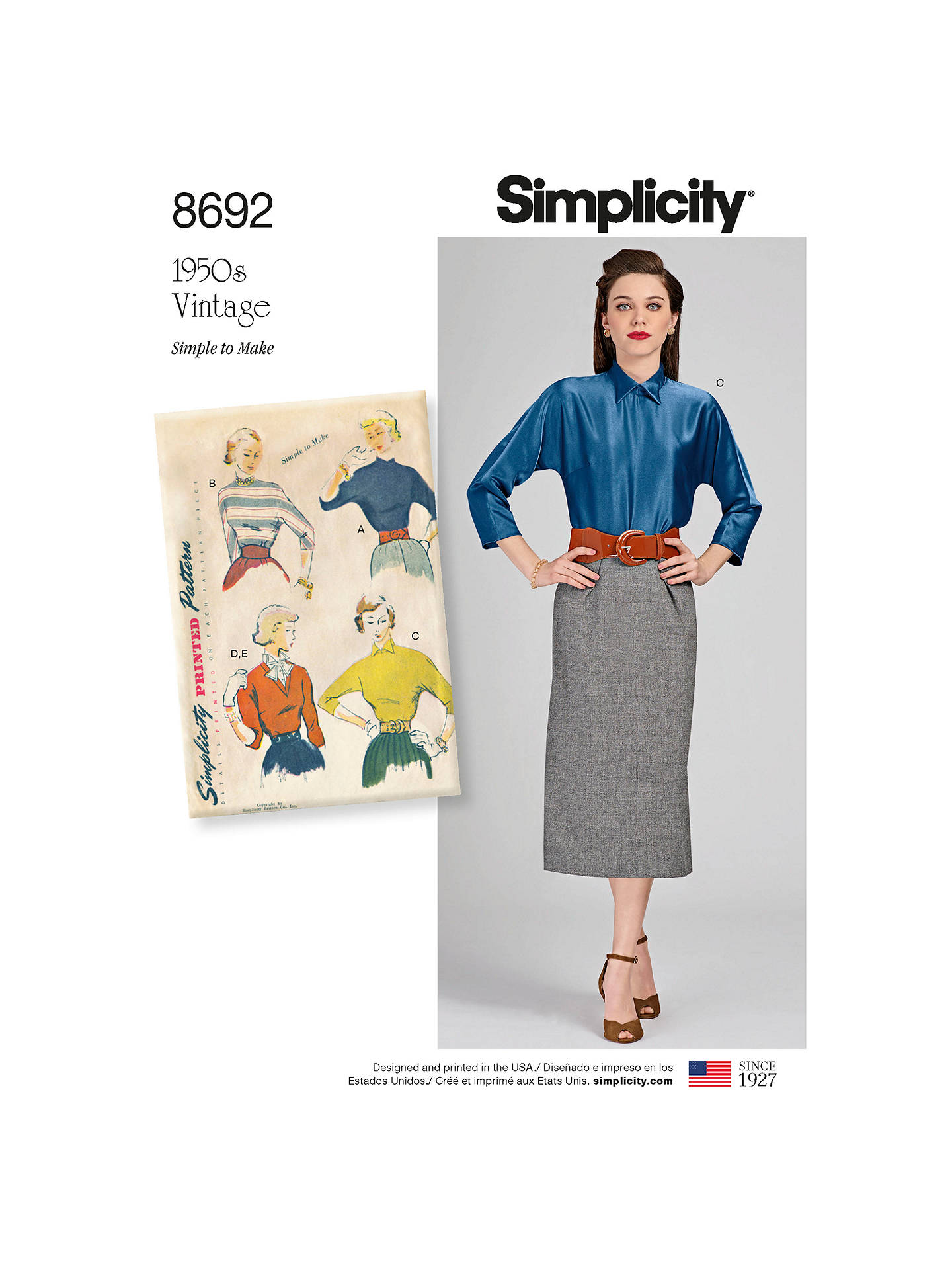 84604eecfdc Buy Simplicity Blouse and Dickey Sewing Pattern