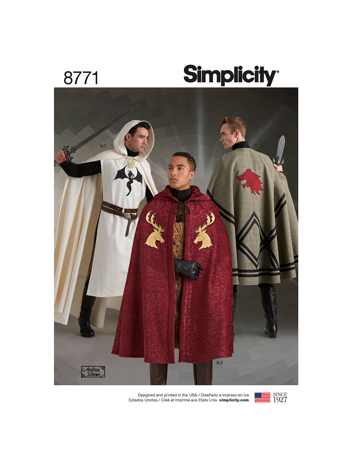 781dc16085 BuySimplicity Unisex Capes Sewing Pattern