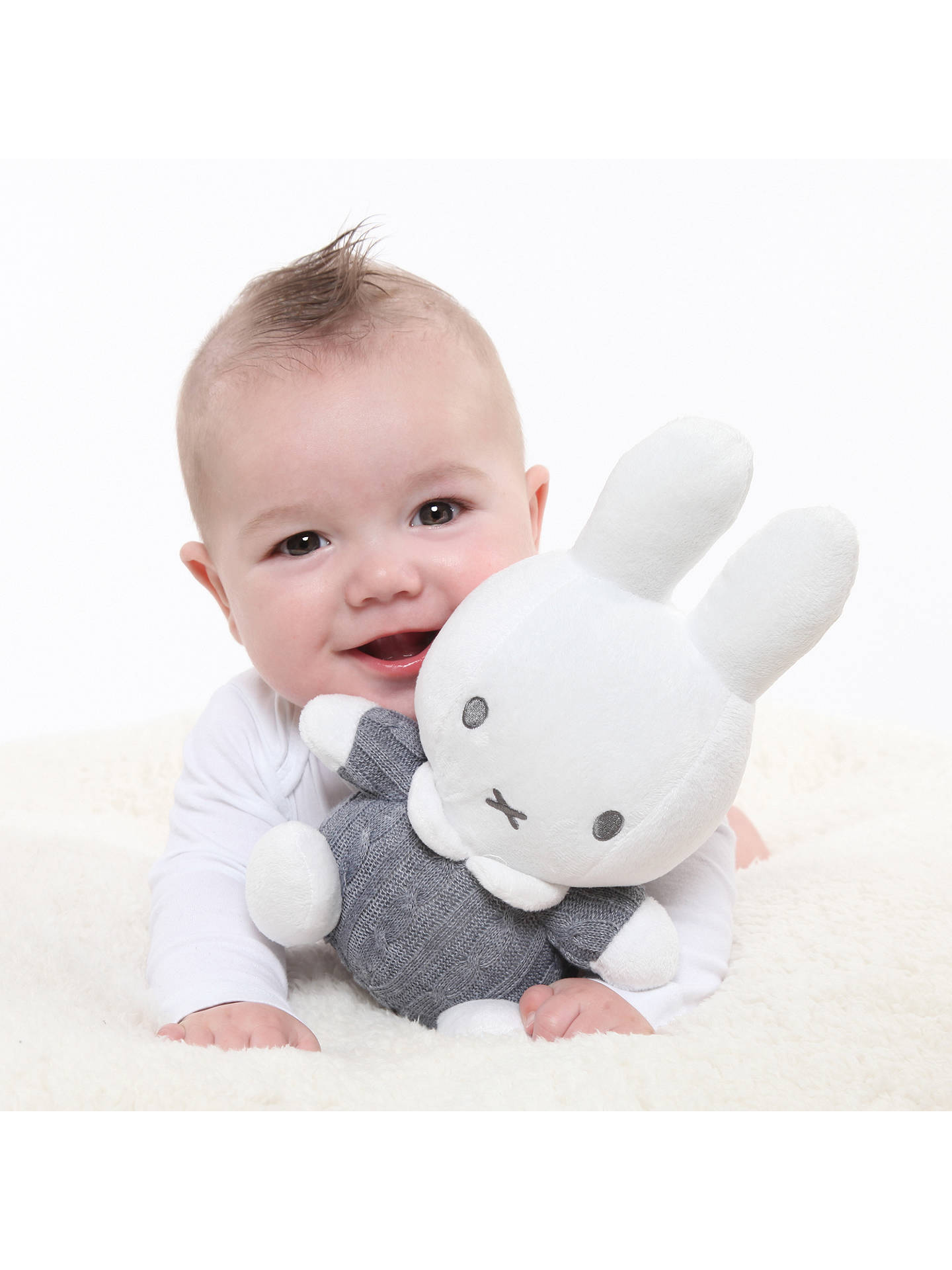 BuyMiffy Knitted Cuddle Bunny Soft Toy Online at johnlewis.com