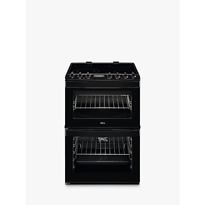 AEG CCB6740AC Freestanding Electric Cooker, A Energy Rating, 60cm Wide, Black