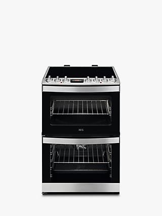 AEG CIB6740ACM Double Electric Cooker, Stainless Steel