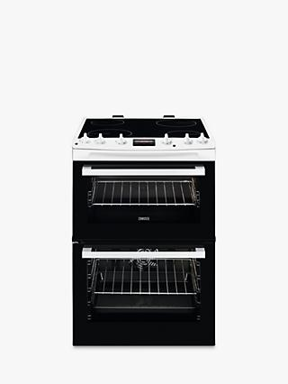Zanussi ZCV66250WA Double Electric Cooker, A Energy Rating, Black/White