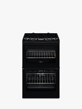 Zanussi ZCV46250BA Freestanding Electric Cooker, A Energy Rating, 55cm Wide, Black