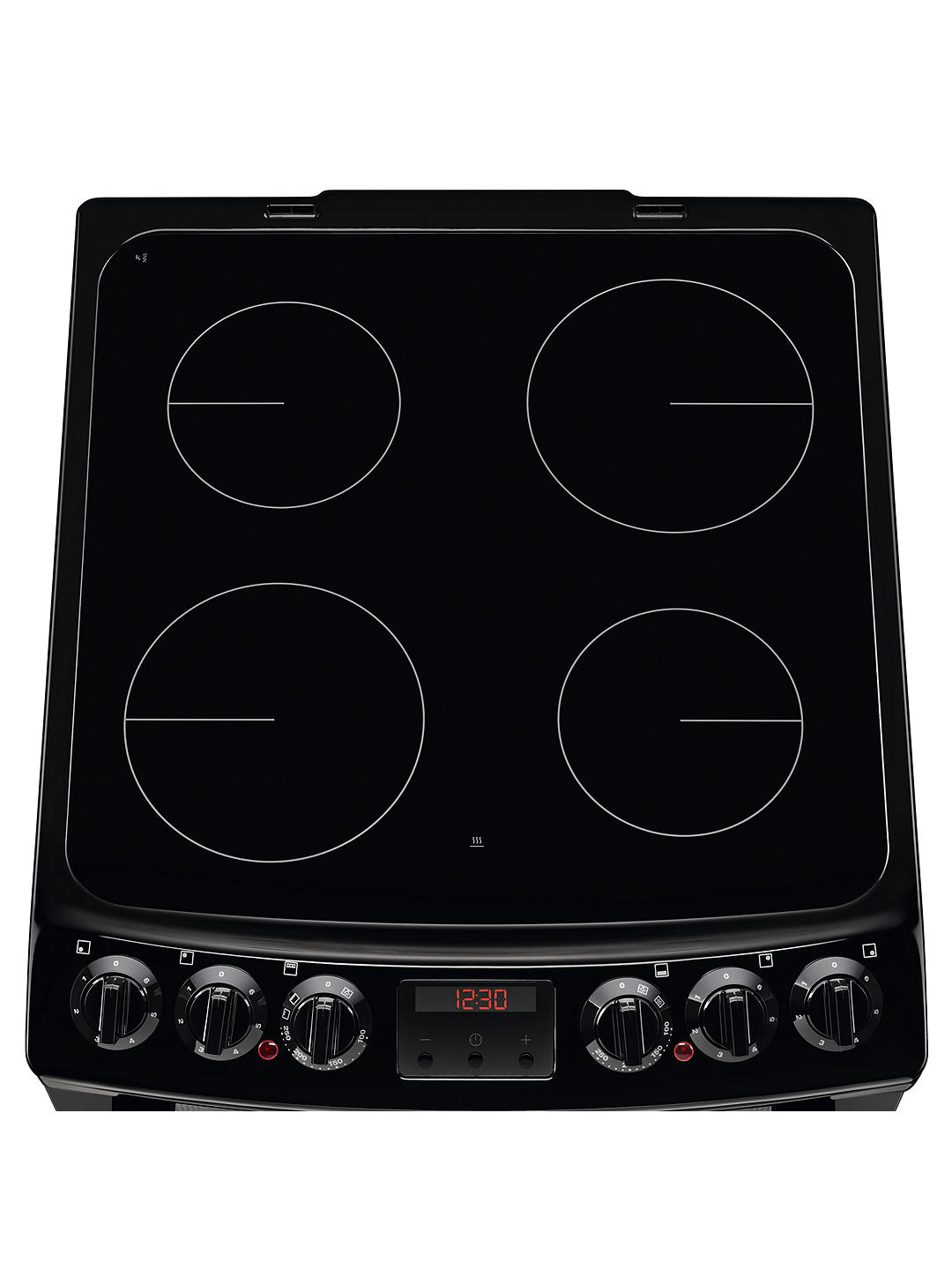 Buy Zanussi ZCV46250BA Double Electric Cooker, A Energy Rating, Black Online at johnlewis.com