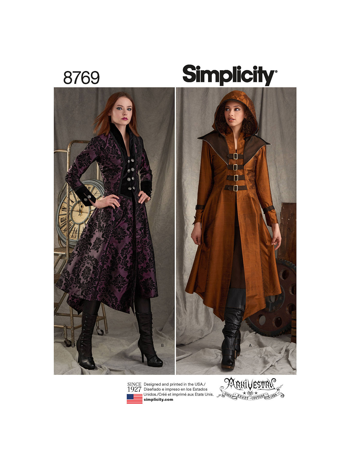 dd52e773a Simplicity Misses Military Costume Coats Sewing Patterns, 8769, R5
