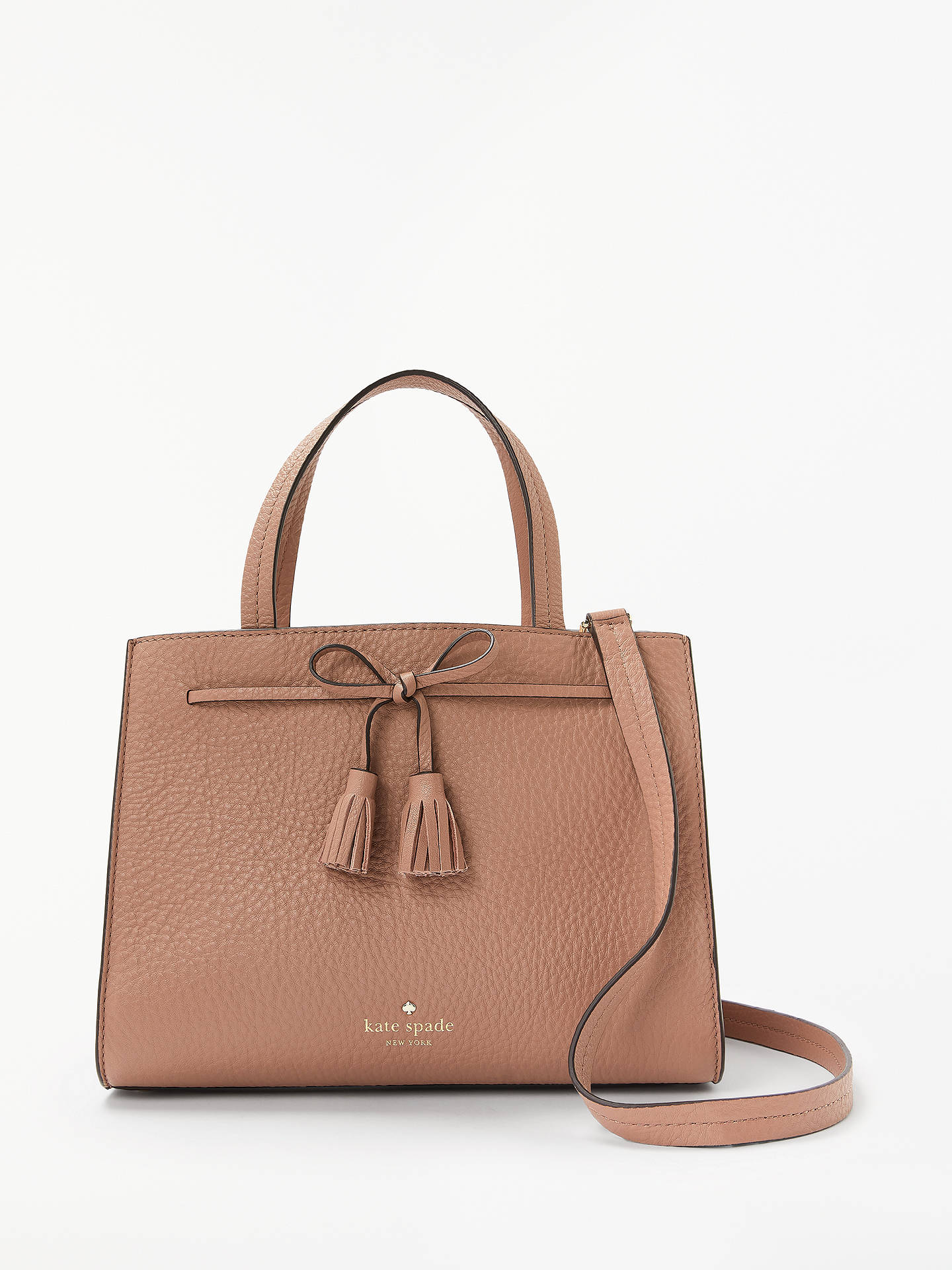 f257194f9f10 Buy kate spade new york Hayes Street Leather Satchel Bag, Sparrow Online at  johnlewis.