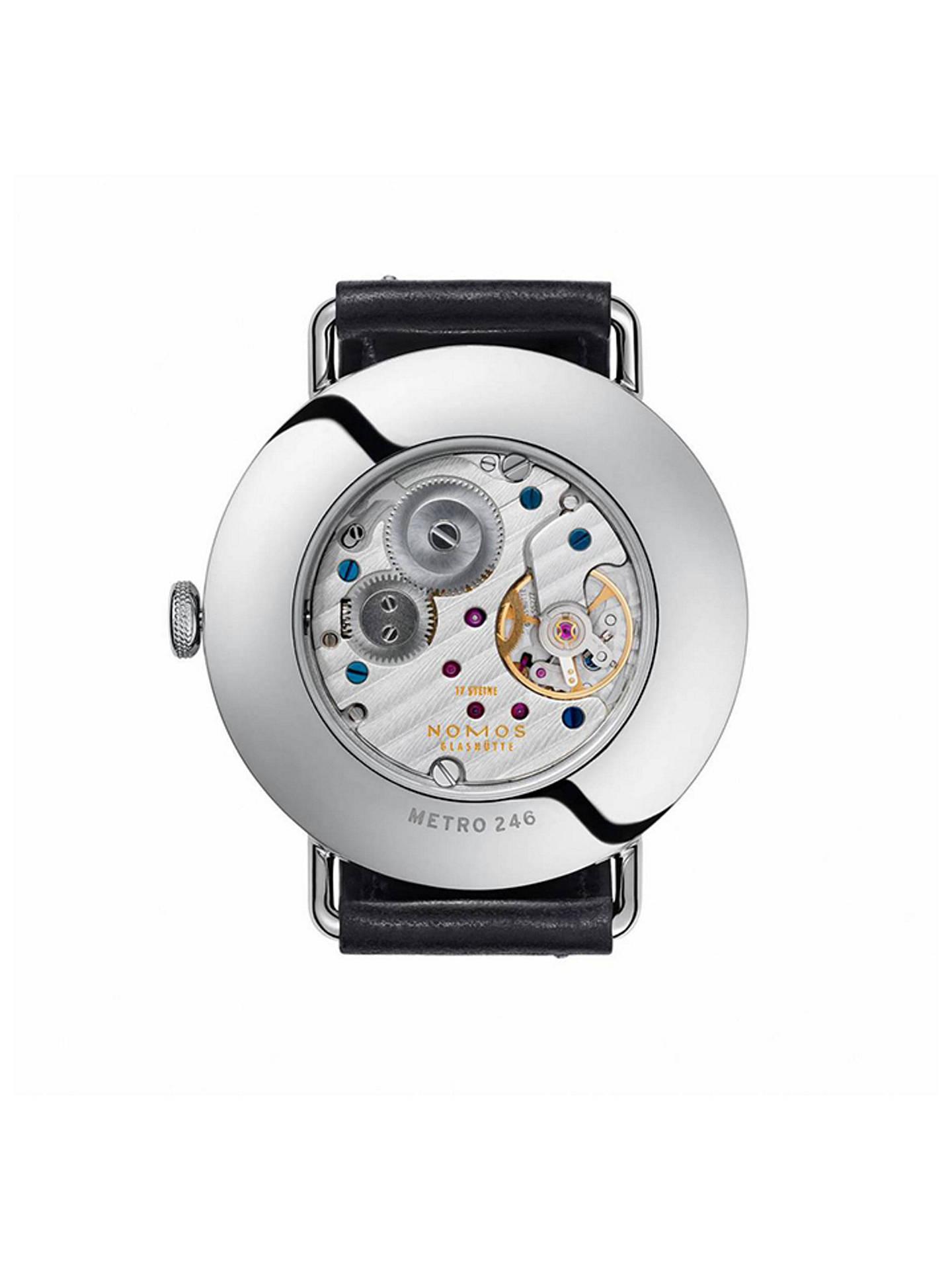 c305d041961 ... Buy NOMOS Glashütte 1111 Unisex Metro Leather Strap Watch