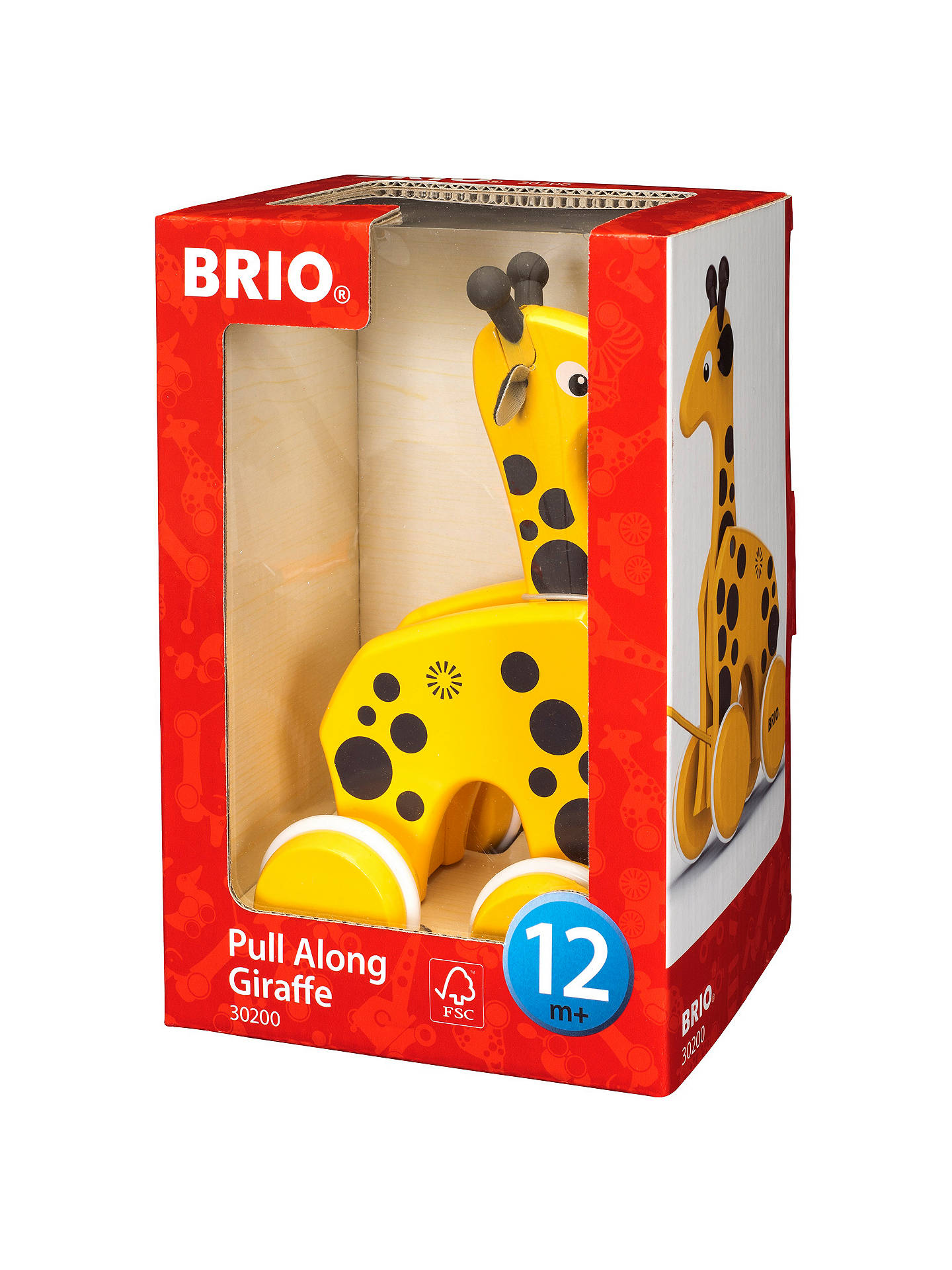 BuyBrio Pull Along Giraffe Wooden Toy Online at johnlewis.com