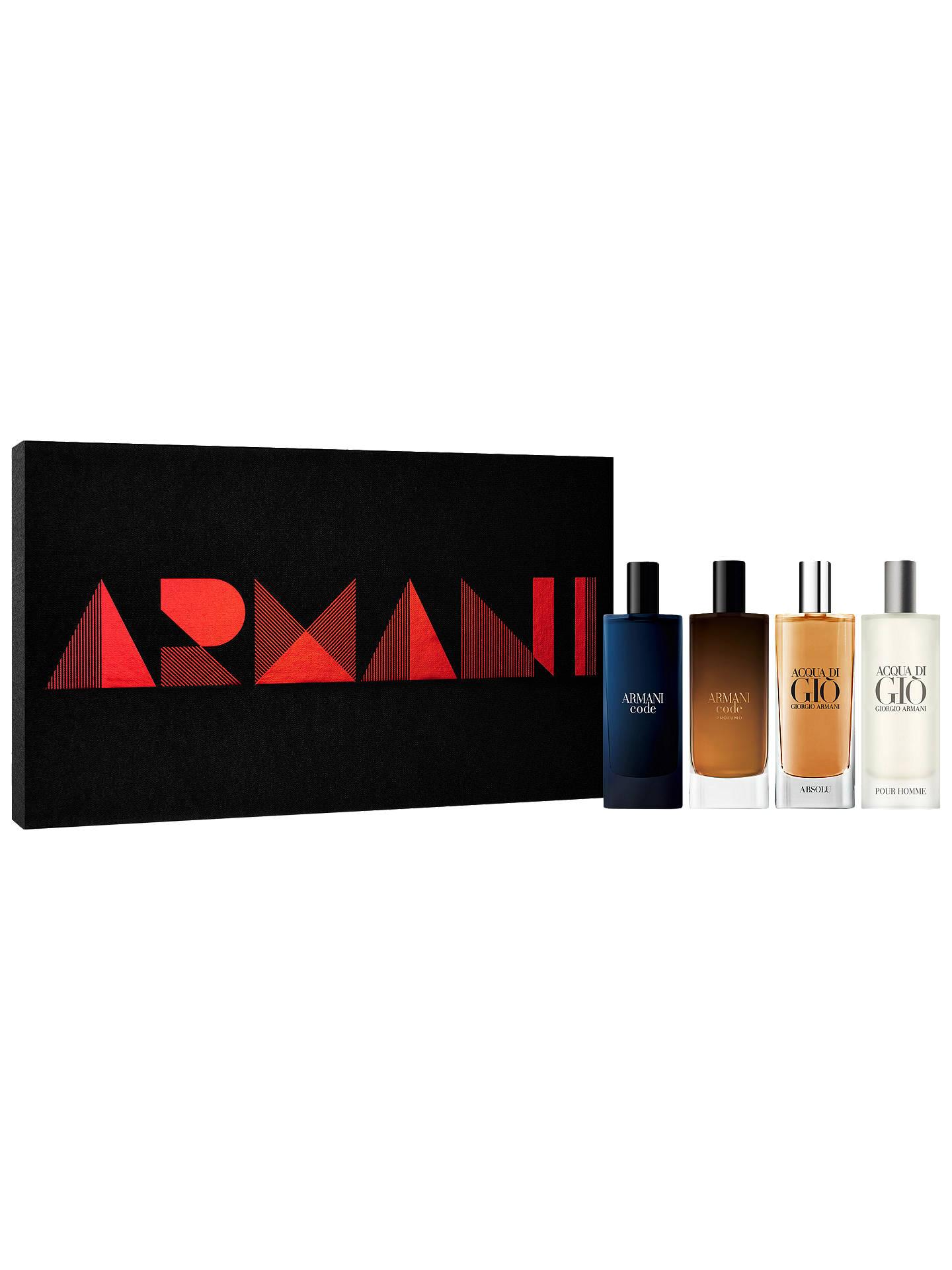 BuyGiorgio Armani Travel Spray Christmas Gift Set For Him 4 x 15ml Online  at johnlewis. 85db1c4bad40