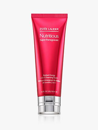 Estée Lauder Nutritious Super-Pomegranate Radiant Energy 2-in-1 Cleansing Foam, 125ml