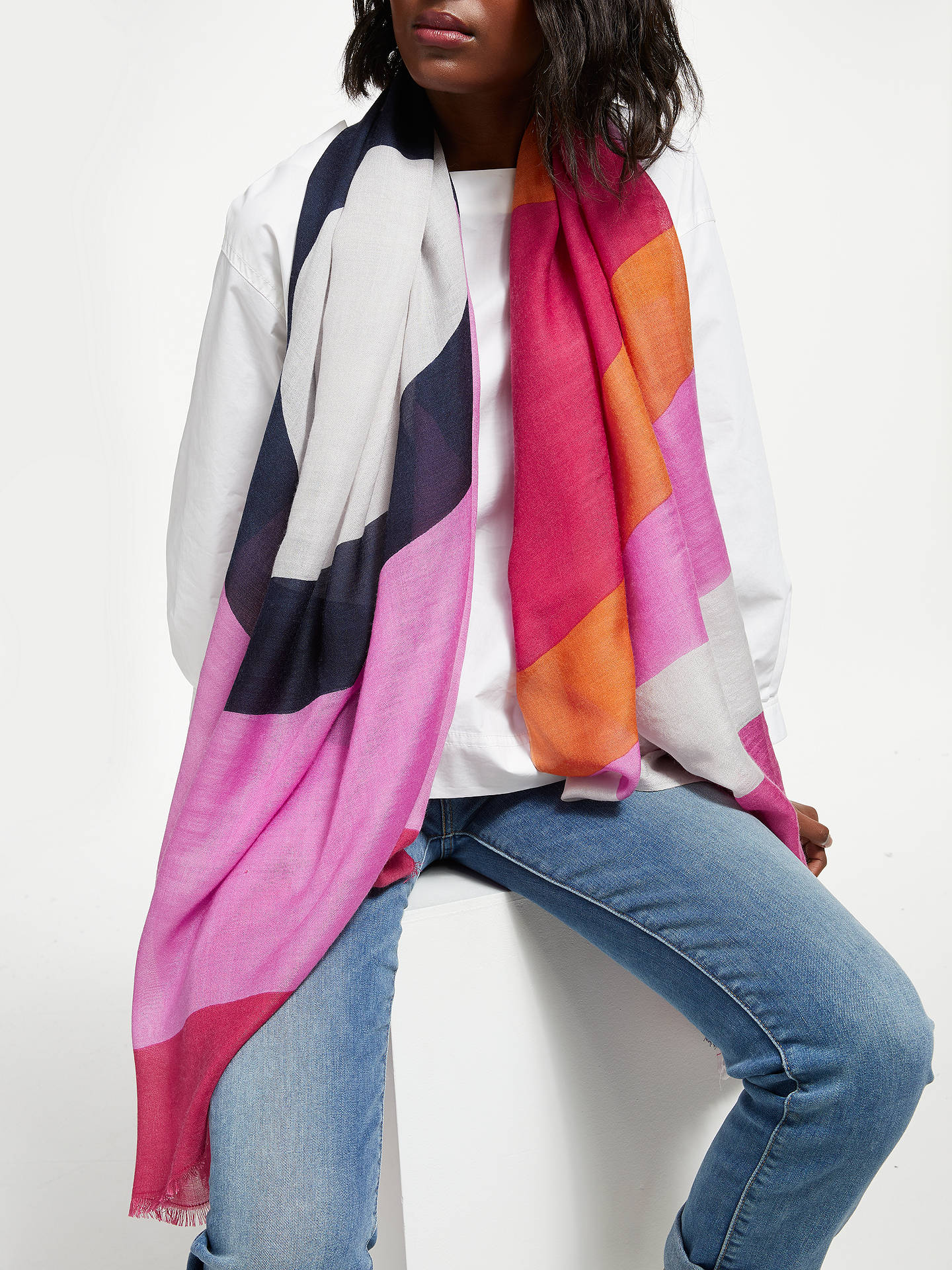 Buy Becksondergaard Love Scarf, Fuschia Pink Online at johnlewis.com