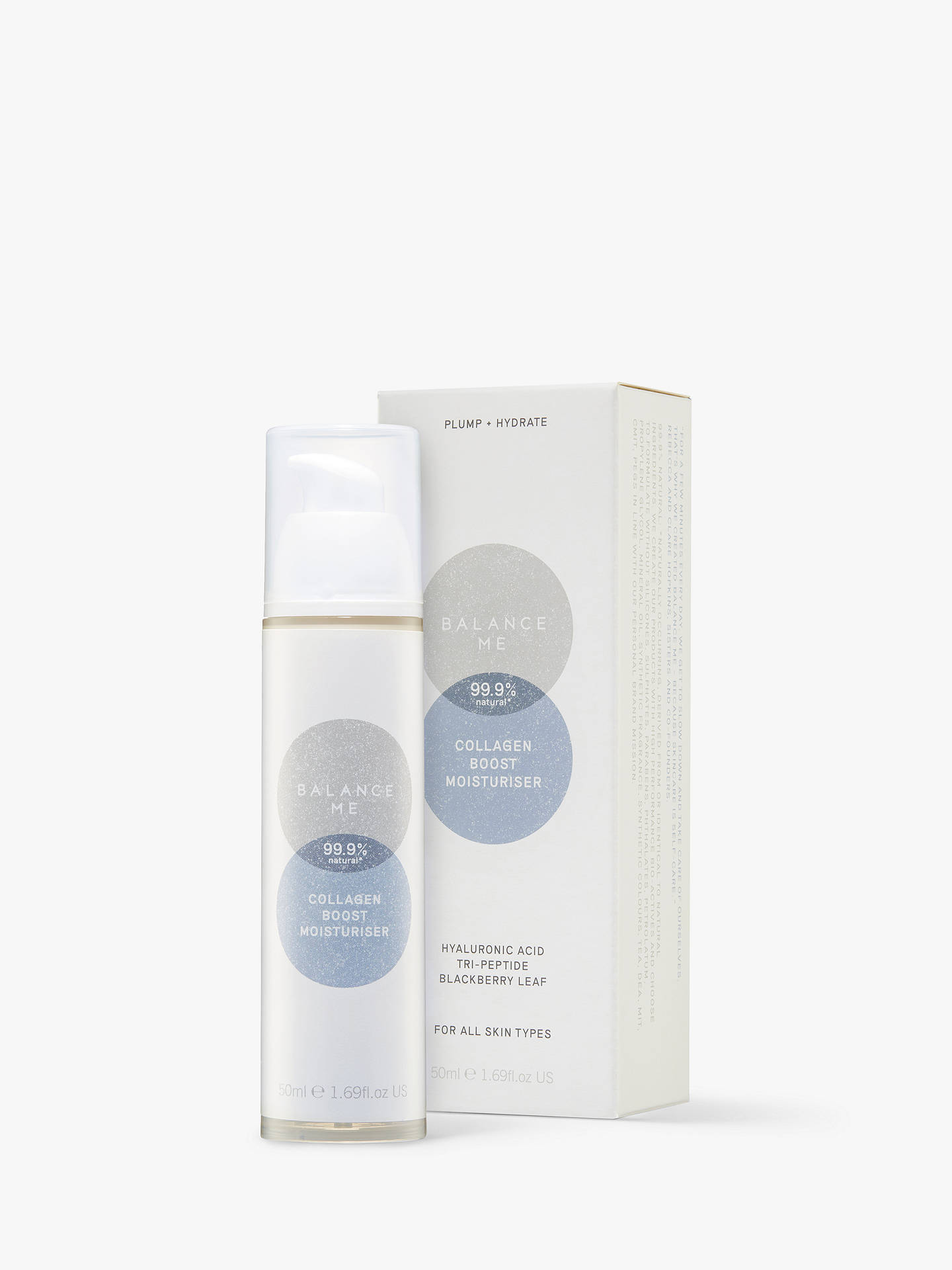 Buy Balance Me Collagen Boost Moisturiser, 50ml Online at johnlewis.com