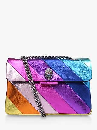 Kurt Geiger London Kensington Rainbow Leather Cross Body Bag, Multi