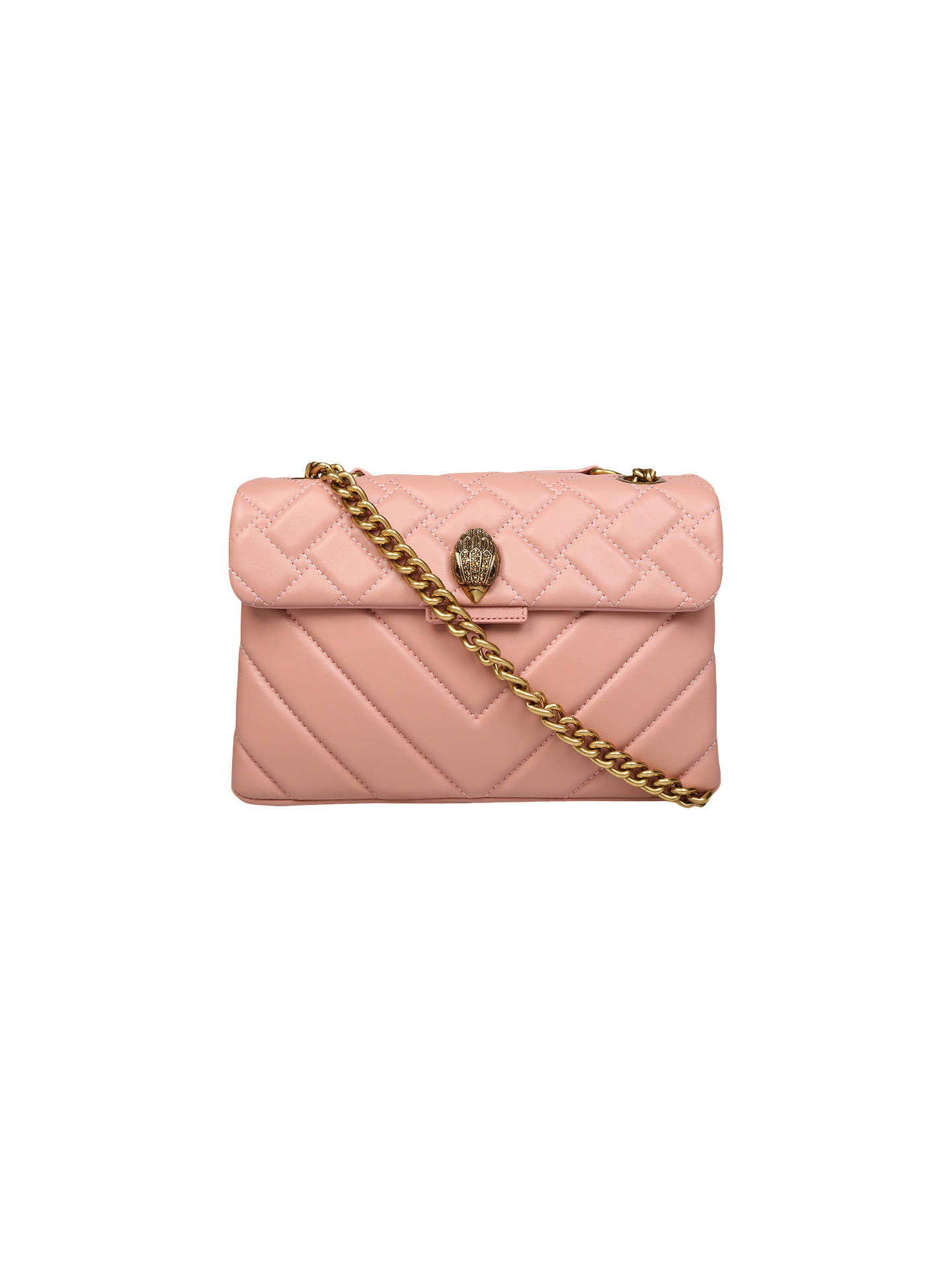 06e241d32912 Buy Kurt Geiger London Mini Kensington Leather Cross Body Bag, Pink Online  at johnlewis.