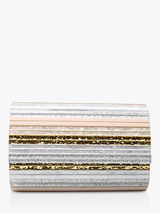 Kurt Geiger London Eye Party Envelope Clutch Bag, Gold/Neutral