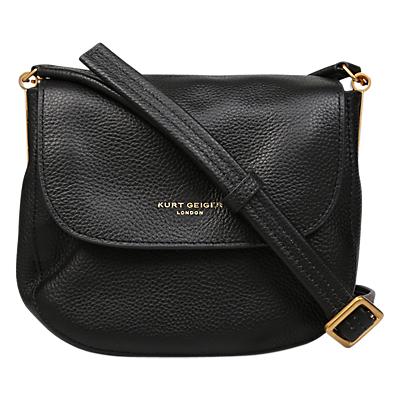 Kurt Geiger London Small Emma Saddle Handbag, Black