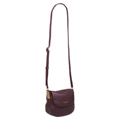 Kurt Geiger London Emma Small Leather Saddle Bag, Wine