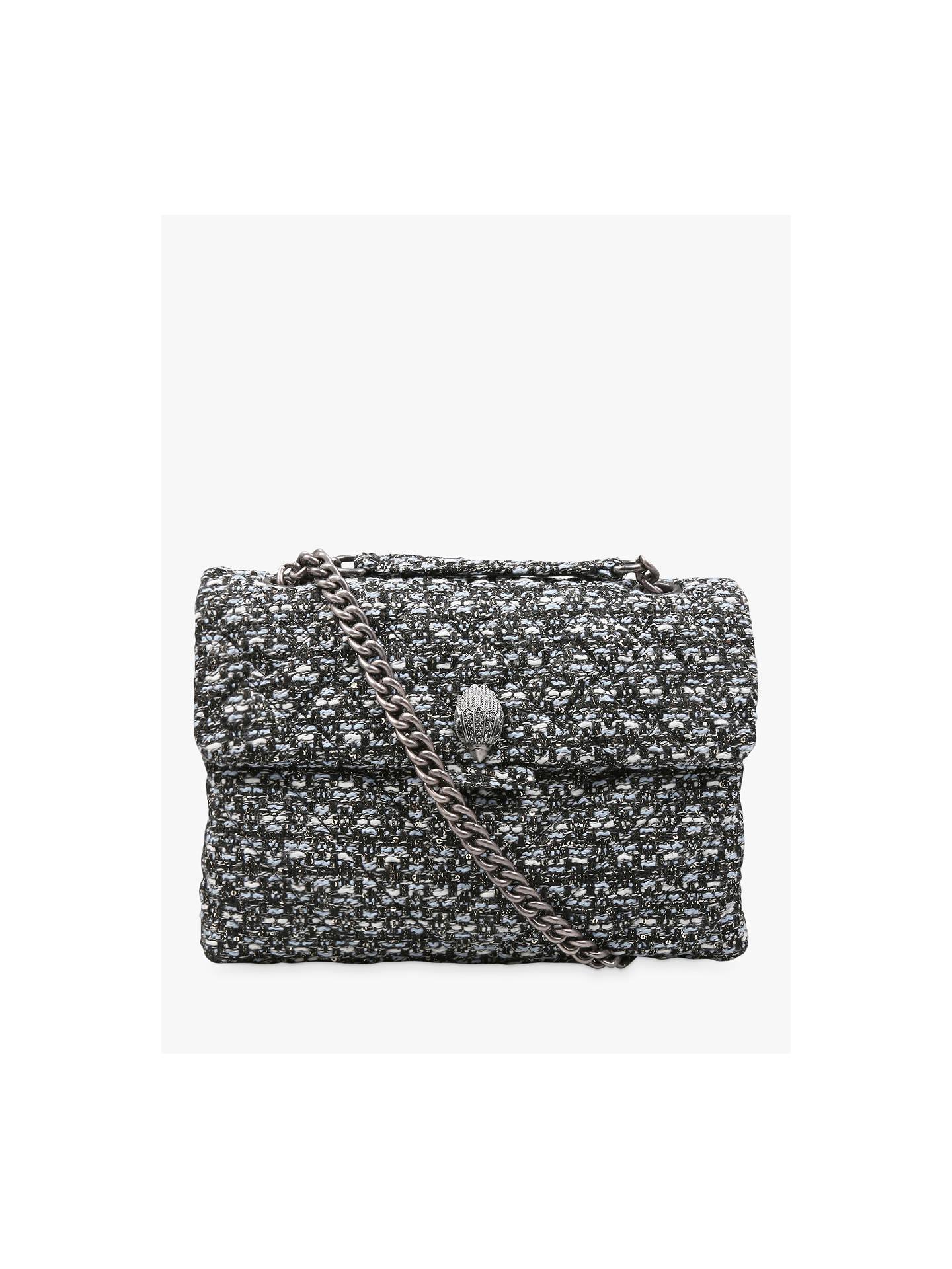 1568ded9365 Buy Kurt Geiger London Tweed Kensington Shoulder Bag, Blue/Multi Online at  johnlewis.