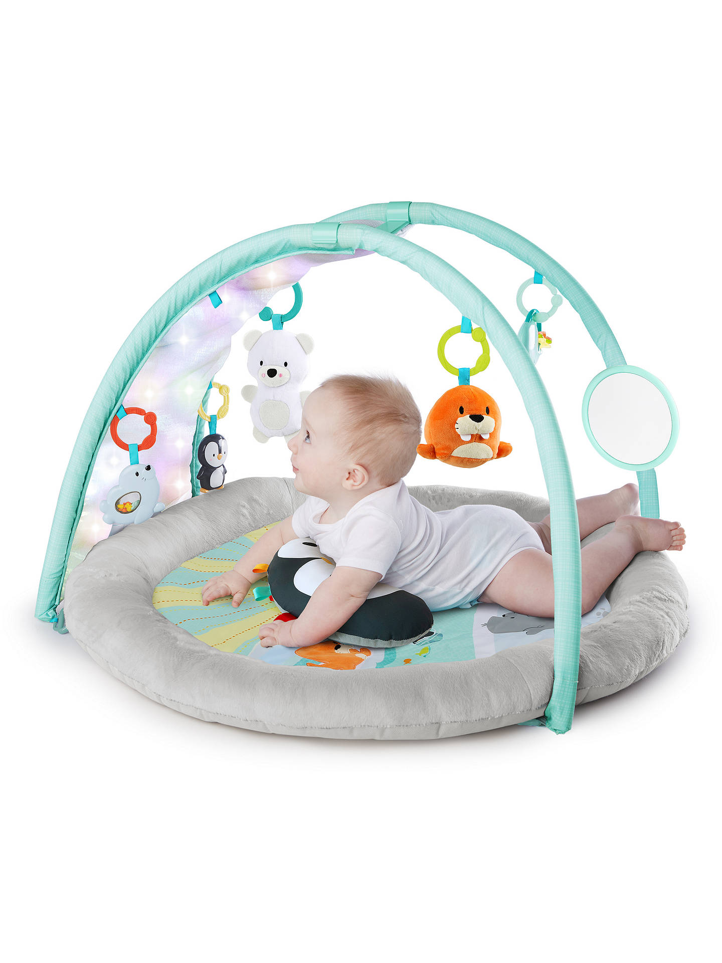 Buy Bright Starts Arctic Glow Baby Gym Online at johnlewis.com