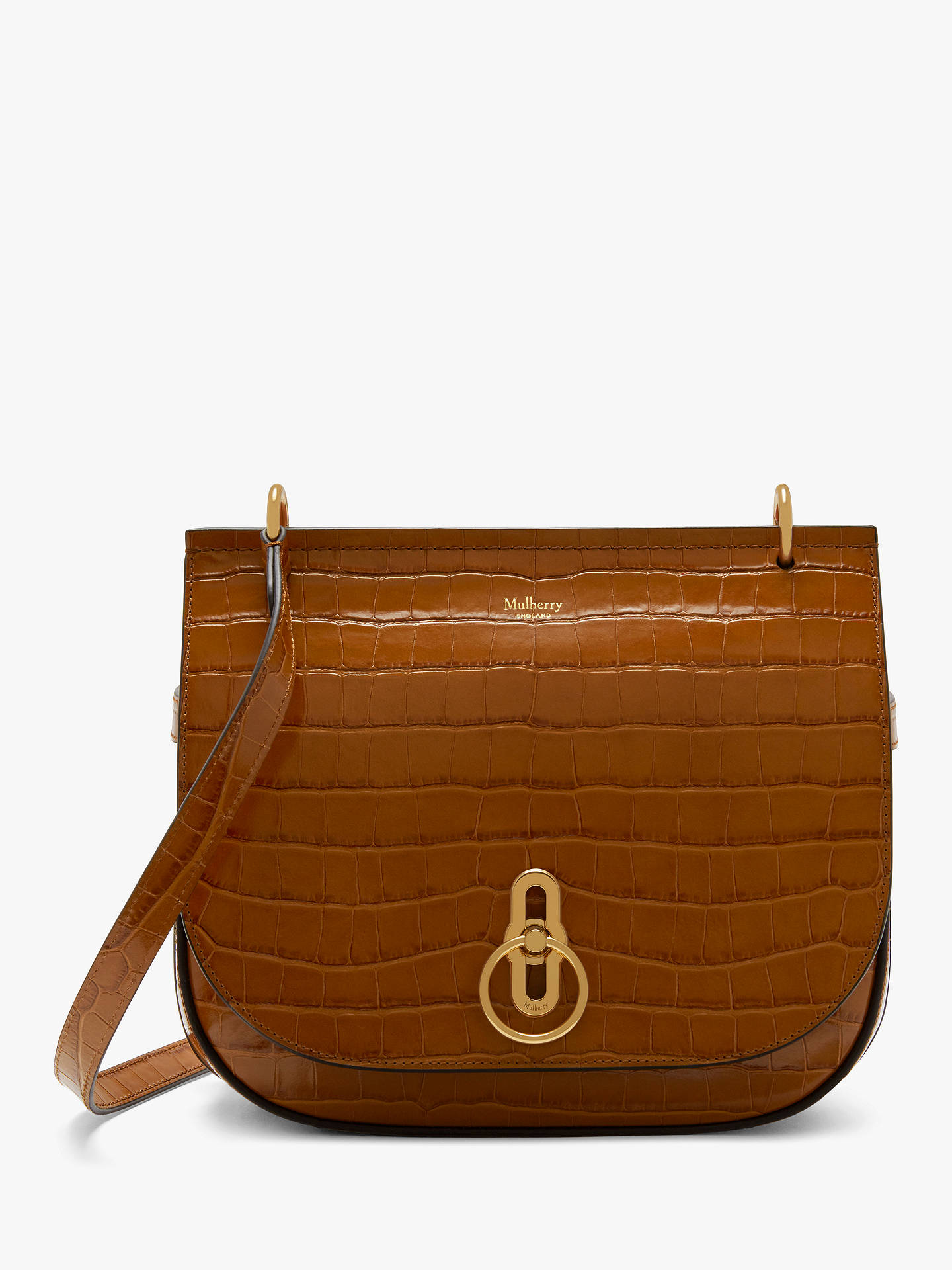 affbbfa688ef ... order buymulberry amberley leather shiny croc effect satchel tobacco  brown online at johnlewis 4bc43 250a9