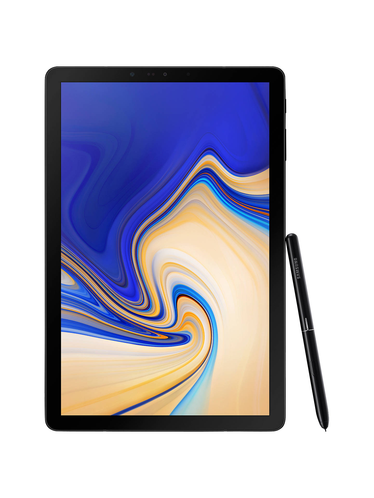 "BuySamsung Galaxy Tab S4 Tablet with S Pen, Android, 64GB, 4GB RAM, Wi-Fi, 10.5"", Black Online at johnlewis.com"