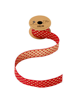 Buy Berisfords Star Ribbon, 3m, Red Online at johnlewis.com