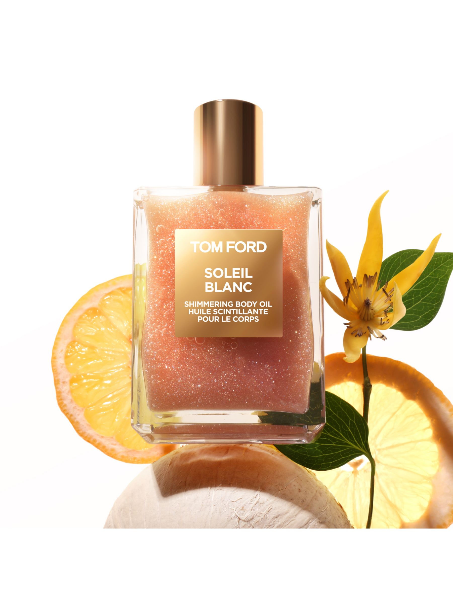 Tom Ford Private Blend Soleil Blanc Shimmer Body Oil Rose Gold 100ml At John Lewis Partners