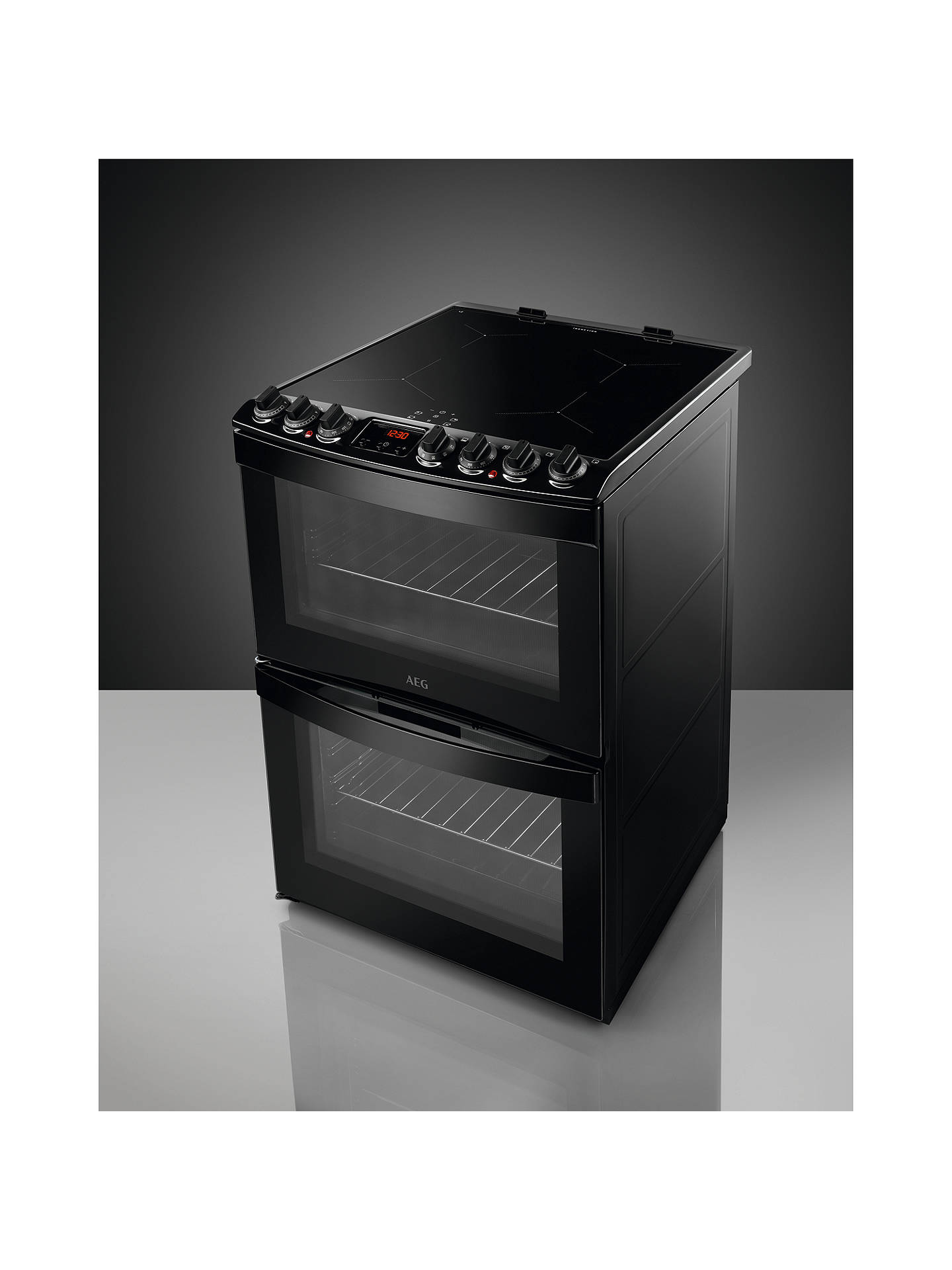 BuyAEG CIB6740ACB Freestanding Electric Cooker, A Energy Rating, Black Online at johnlewis.com